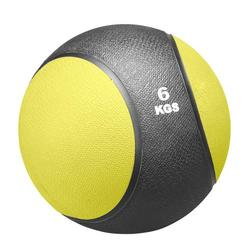 Medizinball 6kg, gelb