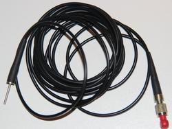 Laserneedle Lichtwellenleiter 660nM Rotlicht 3m schwarz Schweiz LN / Bild 1