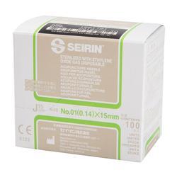 SEIRIN®, J-15Typ, grün, 0,14 x 15mm, mit Führung, silikonisiert