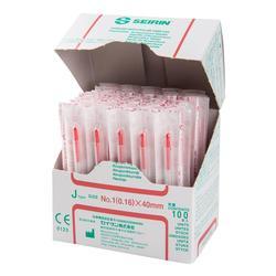 SEIRIN®, J-Typ, rot, 0,16x 40mm, mit Führung, silikonisiert