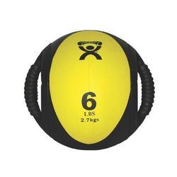 Medizinball mit Doppelgriff  gelb 2,7 kg