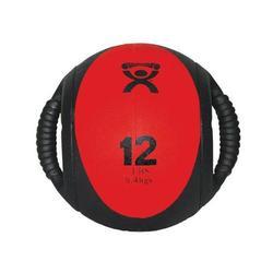 Medizinball mit Doppelgriff  rot 5,5 kg