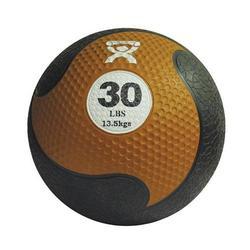 Medizinball aus Gummi 13,5 kg braun