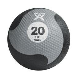 Medizinball aus Gummi 9kg silber