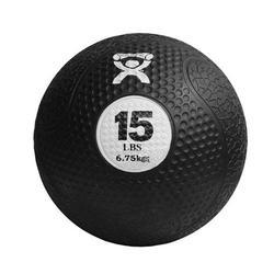 Medizinball aus Gummi schwarz 6,75 kg