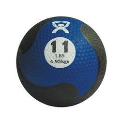 Medizinball aus Gummi blau 5,0 kg
