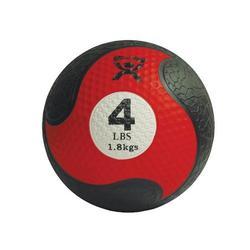 Medizinball aus Gummi 1,8kg rot