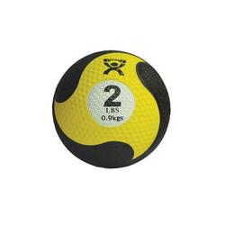 Medizinball aus Gummi gelb 0,9 kg