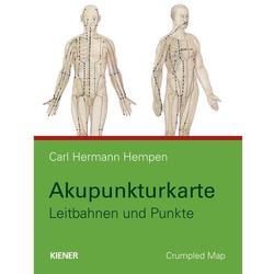 Akupunkturkarte - Leitbahnen und Punkte