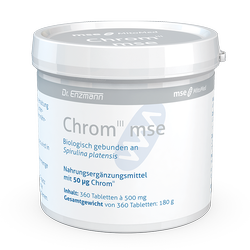 Chrom III mse, 0,05mg, 360 Tbl. gebunden an Spirulina, Nahrungsgergaenzung