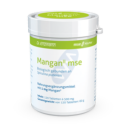 Mangan II, 1 mg, 120 Tbl., gebunden an Spirulina, Nahrungsergänzung, mse